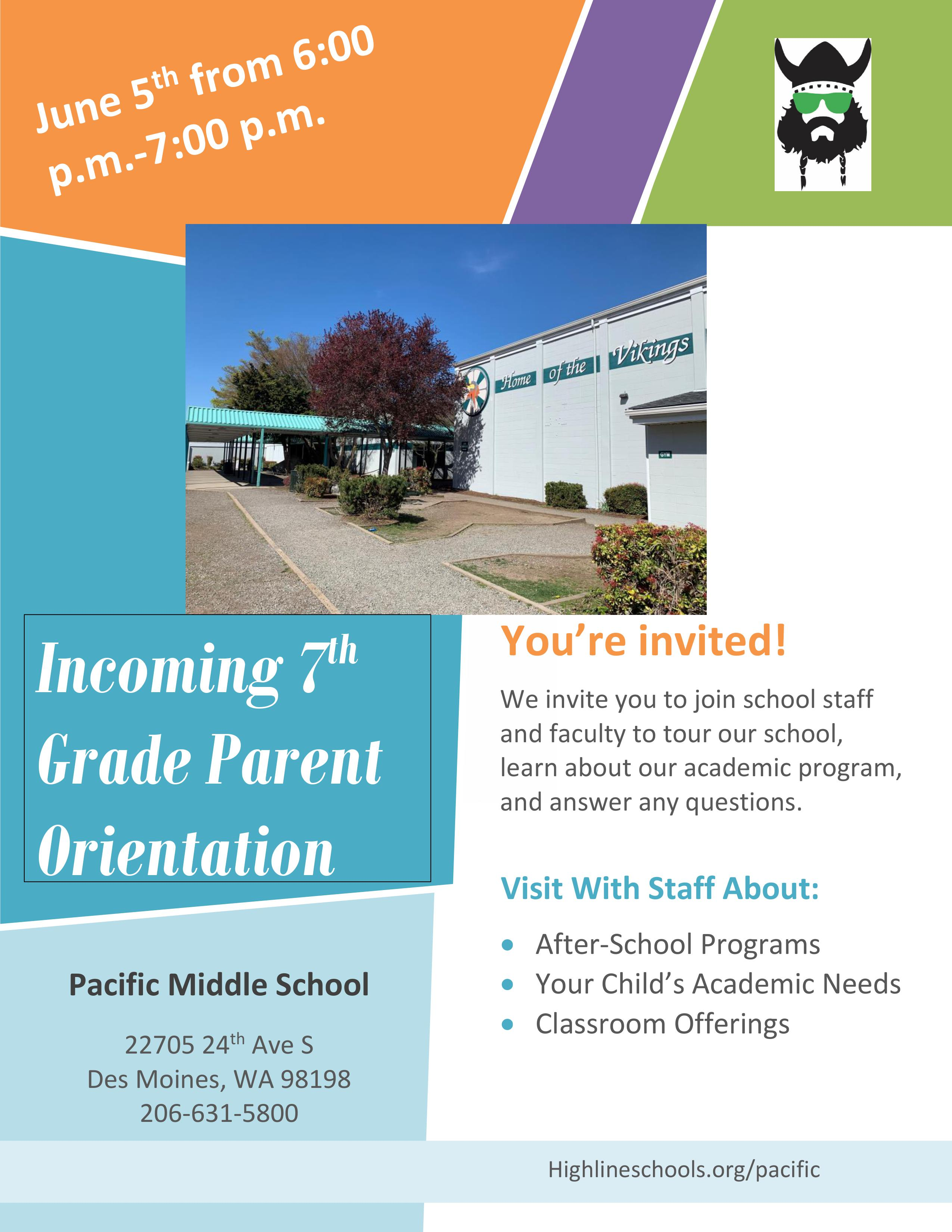 Join us June 5th from 6:00 pm to 7:00 pm to learn more about Pacific.